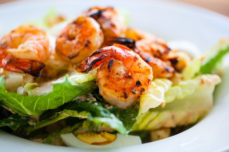 Ingrédients salade de crevettes