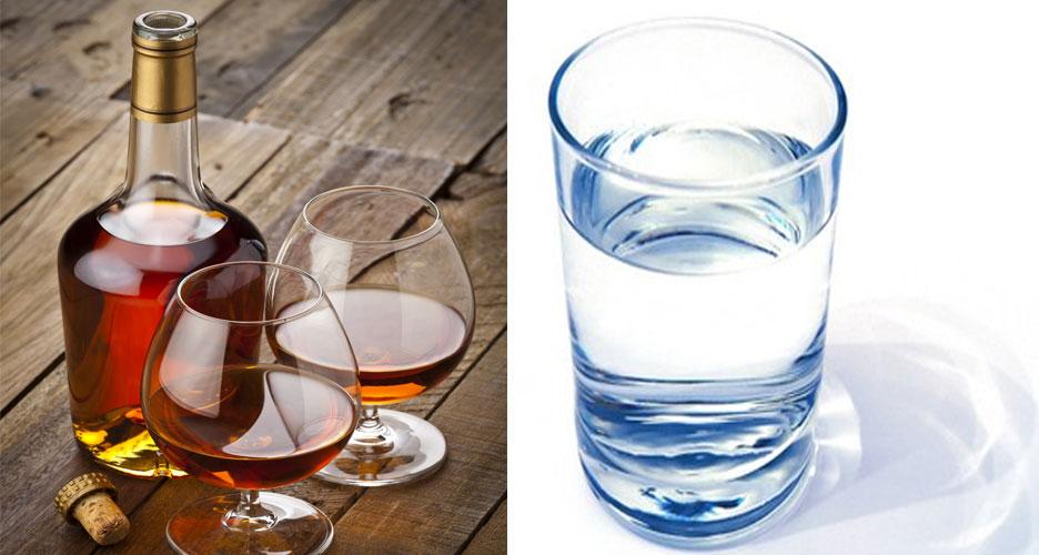 Relayez alcool et eau