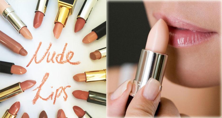 différents lipstick nude