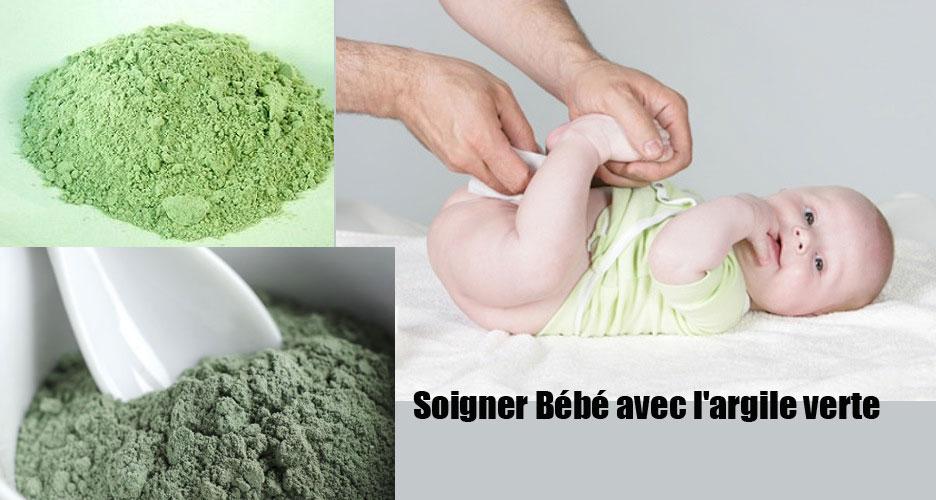 Soigner Bébé avec l'argile verte