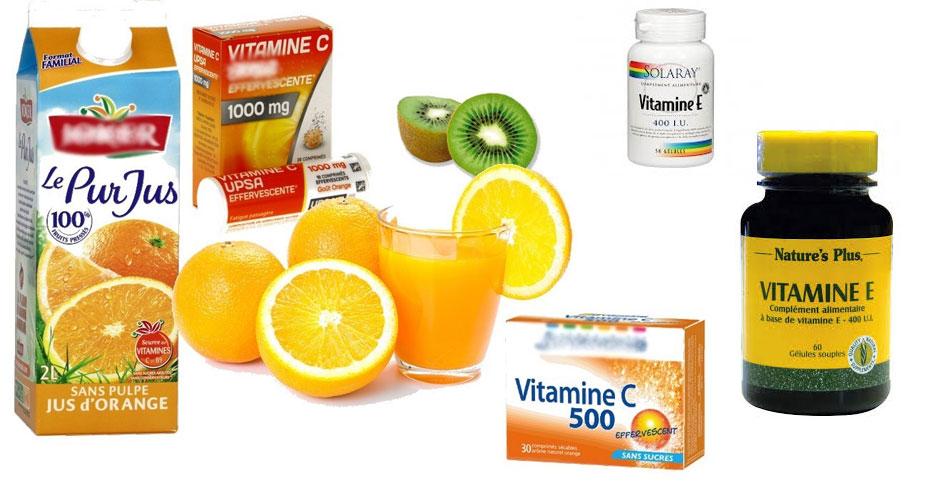 compléments alimentaires à base de vitamines E et C