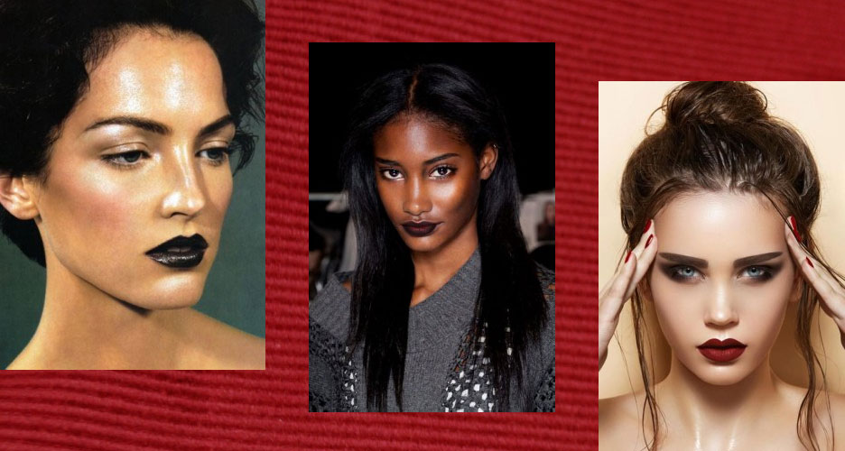 maquillage convient avec un rouge à lèvres foncé